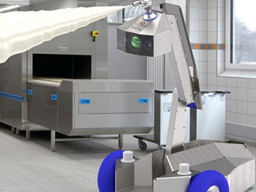 Mobile cleaning robot for production. Source: Fraunhofer IVV